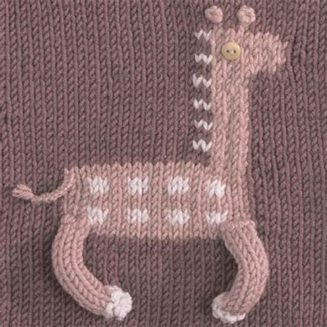 knitting pattern with animals motifs on the friendship afghan project pattern of the day giraffe