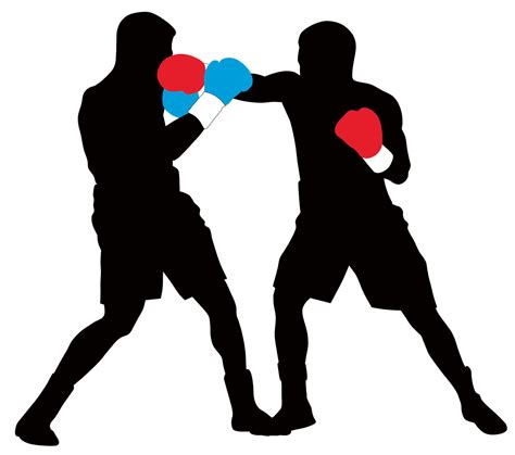 boxing clipart boxing silhouette clipart
