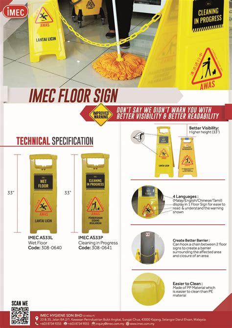 Floor Signtanda Lantai Licin safety cone caution floor sign imec
