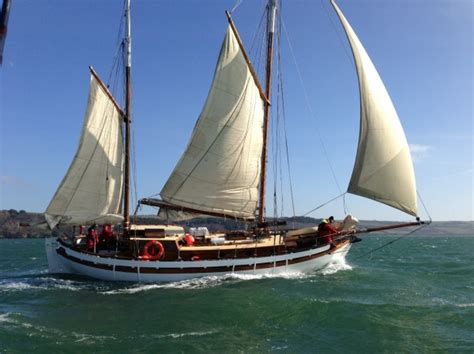 mini boats ta colin archer gaff ketch wooden sailing yacht for sale