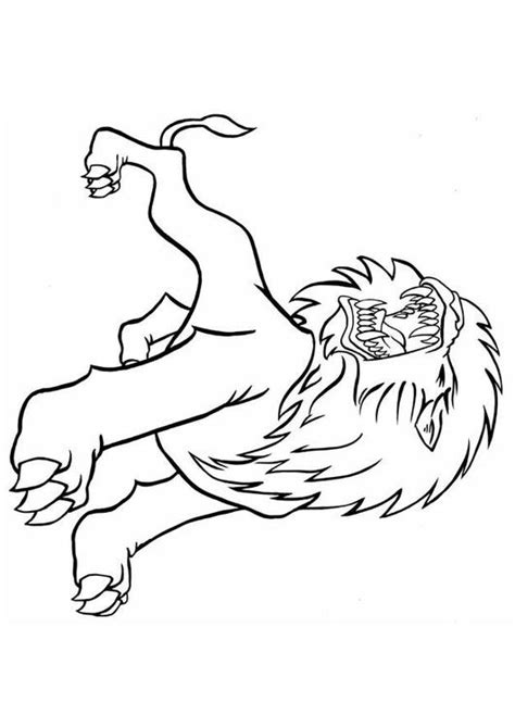 roaring lion coloring page coloring page roaring lion img 8837