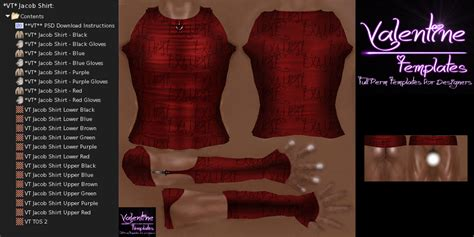 second life clothes templates