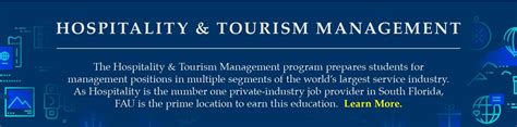 Hospitality And Tourism Management Mba by Fau Academic Programs