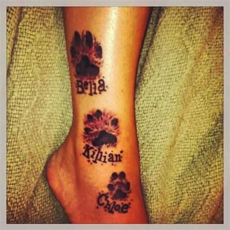 paw print tattoo placement paw print tattoos print tattoos and tattoos and