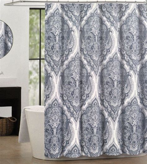 gray paisley shower curtain 1000 ideas about navy blue shower curtain on pinterest