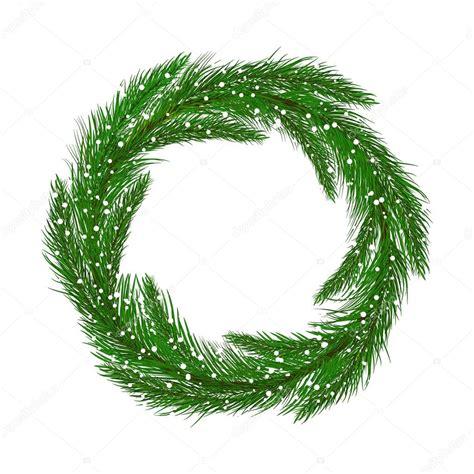 green christmas wreath illustration stock vector