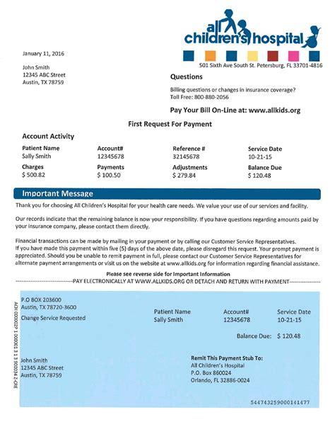 Advance Letter For Hospital Bill 6 Hospital Bill Format Service Letters
