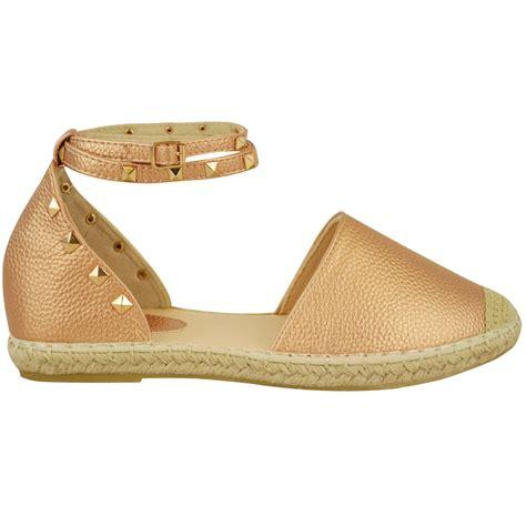 Sandal Wedges Rm01 Hitsm 2 womens flat espadrille strappy sandals wedge platform summer shoes ebay