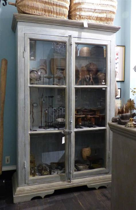 wooden bookcase with glass doors a painted wooden bookcase with glass doors at 1stdibs