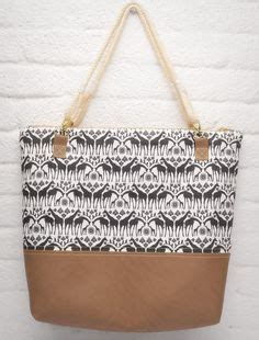 Couture Linen Link All Nighter Bag by Linen Tote Leather Bottom Bag Carryall