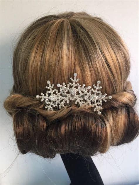 snowflake wedding hair accessories winter snowflake hair comb wedding hair comb bridal