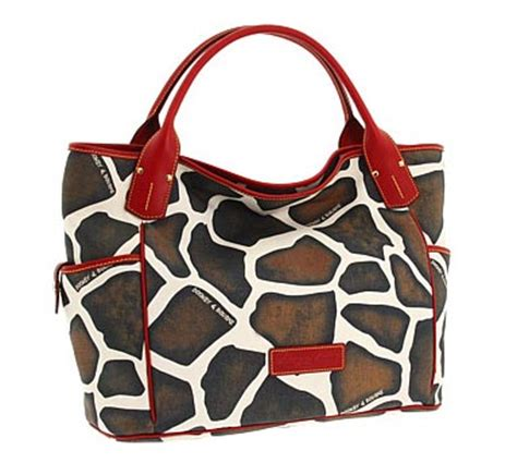 Catherine Rapettis Large Printed Tote In Girrafe by Dooney Bourke Kristen Animal Print Tote Purseblog