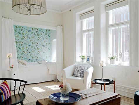 white in swedish white studio with alcove bed in sweden 171 interior design files
