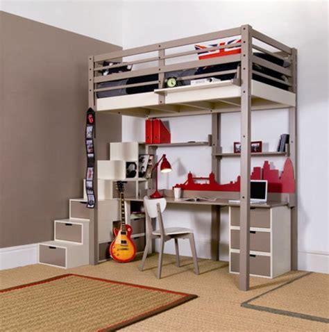 Bunk Beds With Desk Underneath For Girls Hochbett F 252 R Erwachsene 30 Super Ideen Archzine Net
