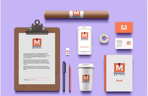 branding identity free mockup psd template responsive
