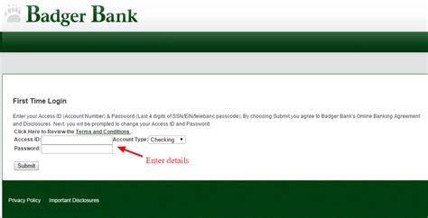 reset online banking password santander badger bank online banking login cc bank