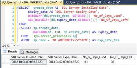 format date query sql server 2012 find expiry date of sql server