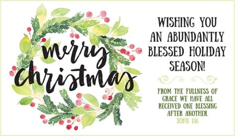 merry christmas abundantly blessed ecard  christmas cards