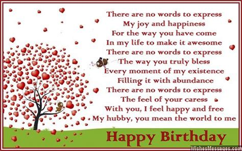 Husband Birthday Card Message Birthday Poems For Husband Wishesmessages Com