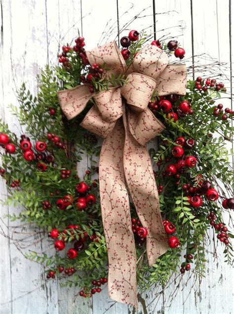 country christmas wreath berry wreath for door christmas door wrea