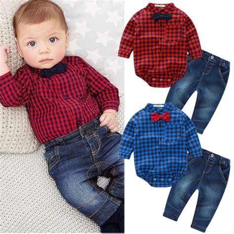 2pcs Newborn Toddler Baby Romper Jumpsuit Bodysuit Clothe 2pcs baby boy romper bodysuit jumpsuit tops clothes set ebay