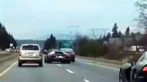 dodge weave crash lamborghini driver totals car  fined ctv news