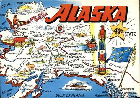 Alaska The 49th State by Alaska 49th State Maps