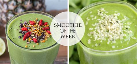 Smoothie Detox Week by Smoothie Of The Week Detox Smoothie Follow Fashion