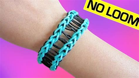 Railroad Rainbow Loom Bracelet without Loom/ using 2 Forks   Doovi