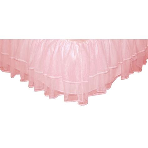 tadpoles triple layer tulle bed skirt pink size twin