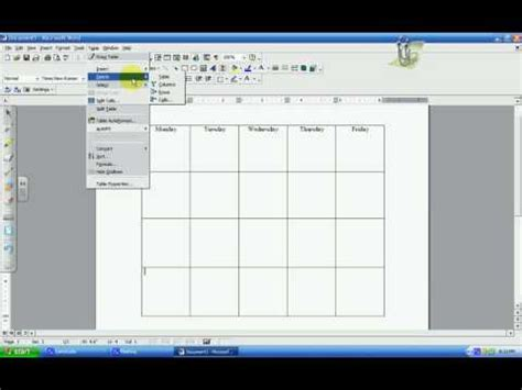 create a table chart microsoft word a table chart
