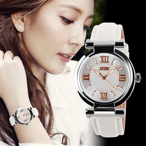 Skmei Kotak Jam Eksklusif Bahan Metal skmei jam tangan analog wanita 9075cl white