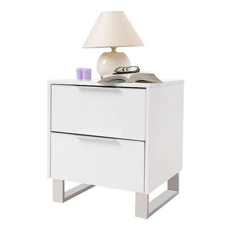 but table de nuit table de nuit design laqu 233 e blanche halifax achat vente