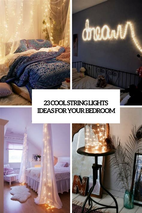 String Ideas - 23 cool string lights ideas for your bedroom shelterness