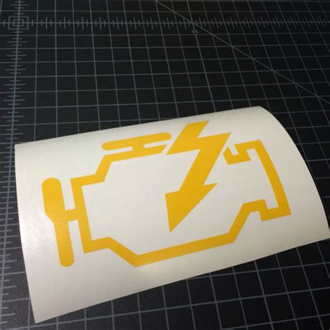yellow check engine light check engine light sticker stickerboost com