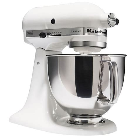 Sears Kitchen Aid by Kitchenaid Ksm150pswh Artisan 174 Series White 5 Quart Stand Mixer
