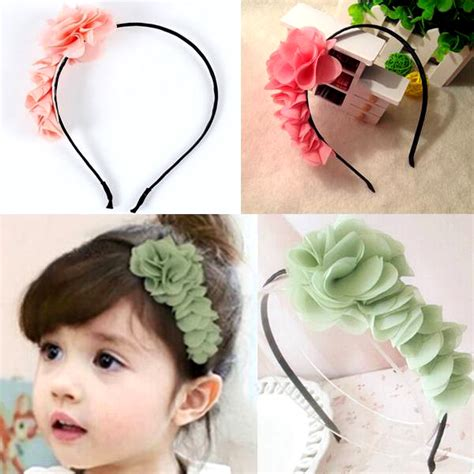 Am046 Limited Bunga Plastik Hias asesoris rambut yang unik aksesoris rambut untuk anak anak