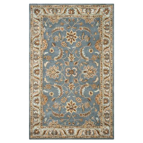 Area Rug 5 X 8 Rizzy Home Volare Grey Border Tufted Wool 5 Ft X 8 Ft Area Rug Volvo142746040508 The