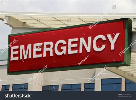 pg hospital emergency room number emergency sign a hospital emergency room entrance stock photo 16247971
