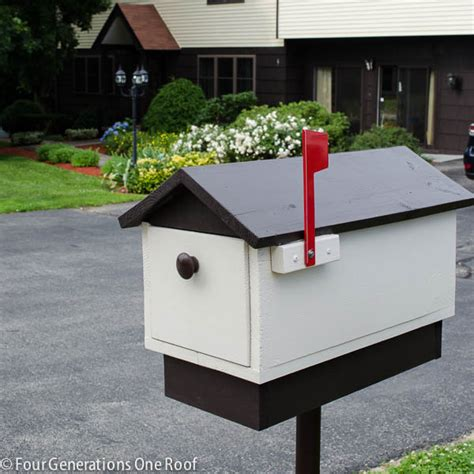 post box design for house how to make a mailbox diy tutorial four generations