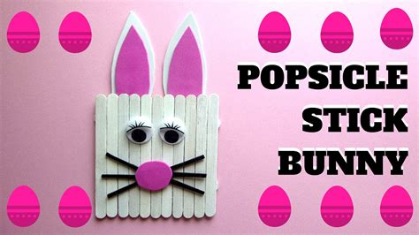 popsicle stick crafts for free easter crafts popsicle stick bunny popsicle stick