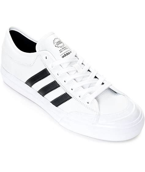 adidas matchcourt white black leather shoes zumiez