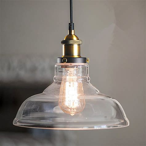 loft antique clear glass bell pendant lighting aliexpress com buy vintage antique clear glass l