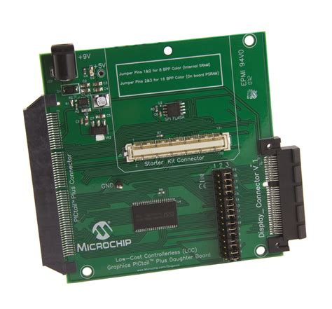 microchip cost low cost controllerless lcc graphics pictail plus board ac164144