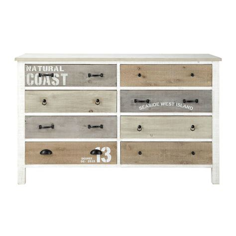 Wooden Chest With Drawers by Wooden Chest Of Drawers In White W 140cm Noirmoutier