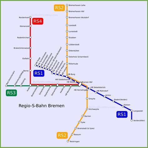 bahn map germany bremen s bahn map
