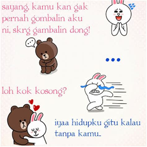 Theme Line Lucu | display picture dp bbm line lucu brown and cony info
