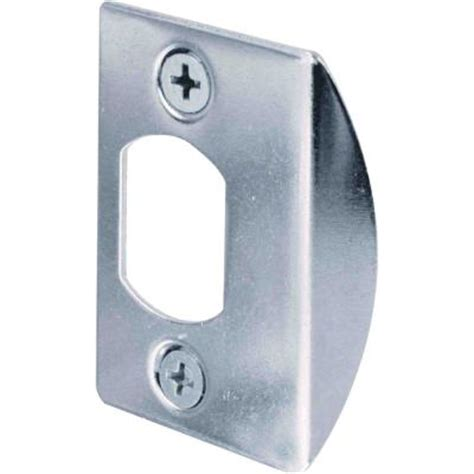 Stiker Stiker Plat prime line chrome standard deadlatch door strike plate e