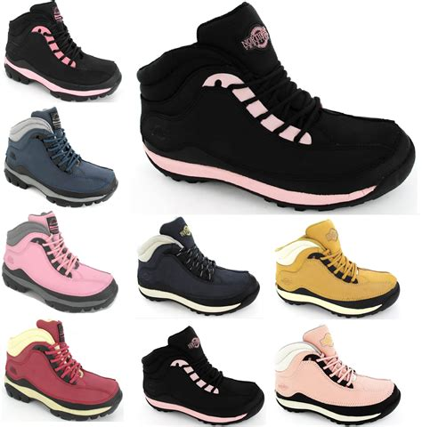 womens steel toe cap safety work hiking leather