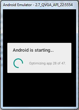 Android Is Optimizing by Android Emulator Android Is Starting Optimizing App Xx